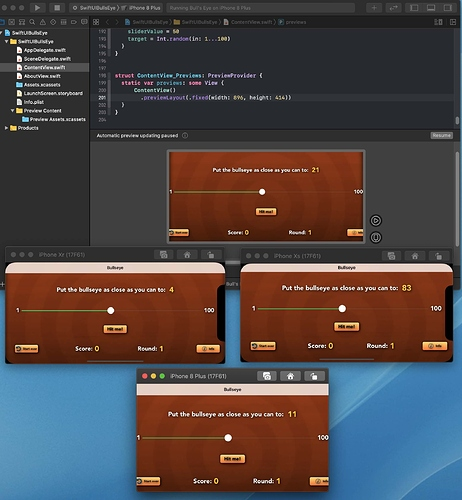 SwiftUI Preview versus Phones