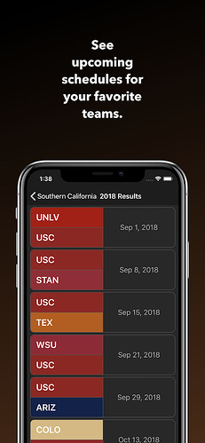 College Football Database - App with over 80,000 searchable