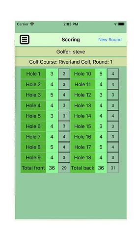 Golf-iPhone6-Scoring